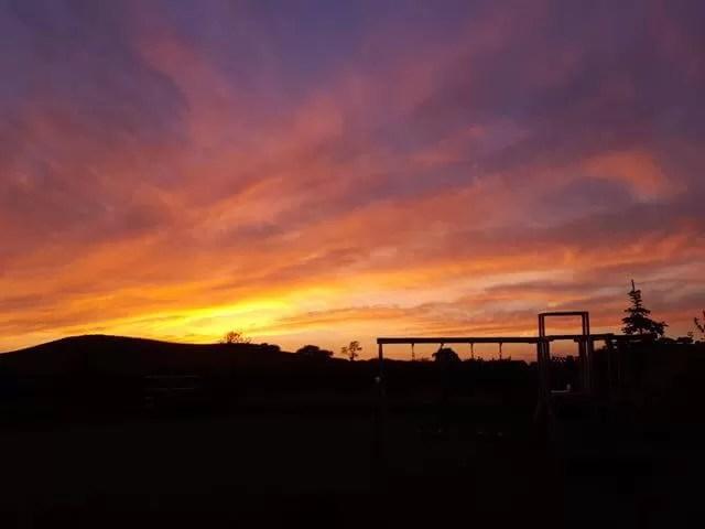 My Sunday Photo sunset on the farm
