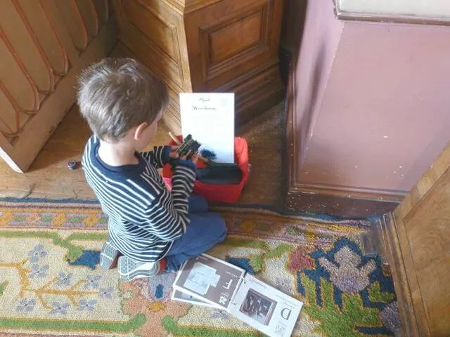 kids activities in the rooms at Felbrigg hall