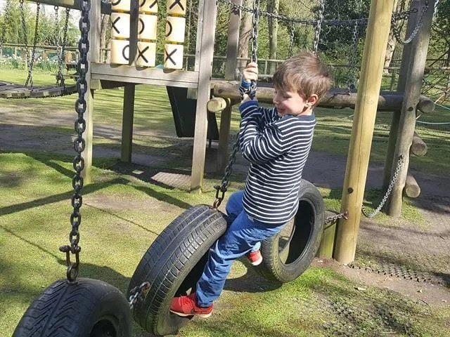 on the tyres at amazonia zoo