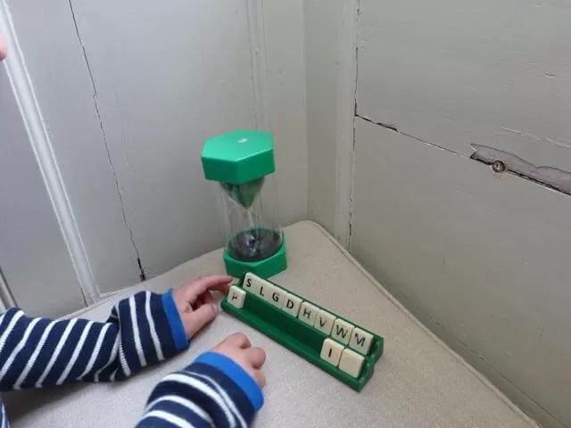 playing word games at Felbrigg hall