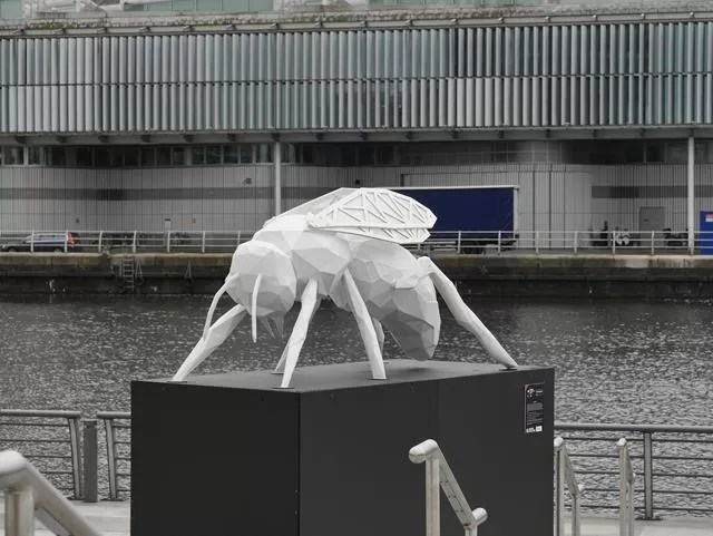 wasp statue at Media City
