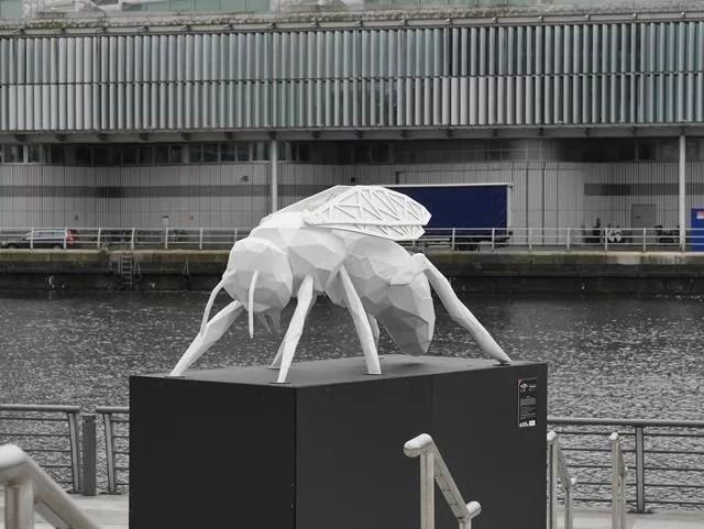 wasp statue at Media City
