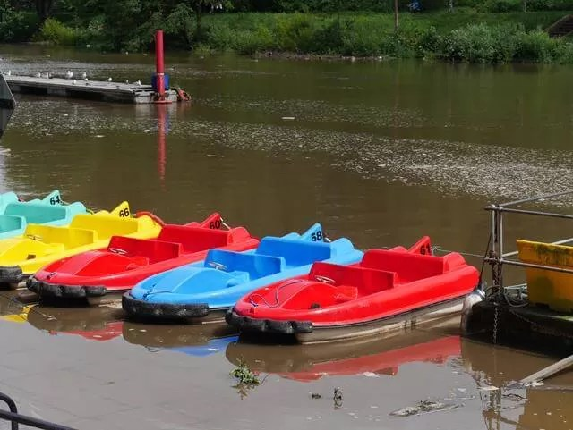 pedalos on the river Dee