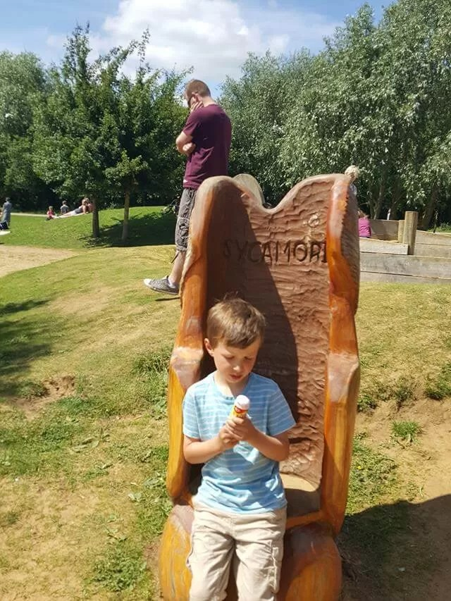 tree chair at stanwick lakes