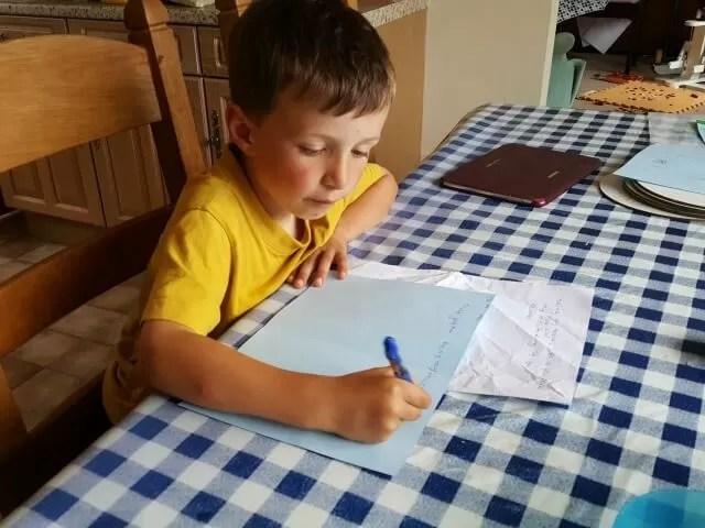 writing cards for teachers
