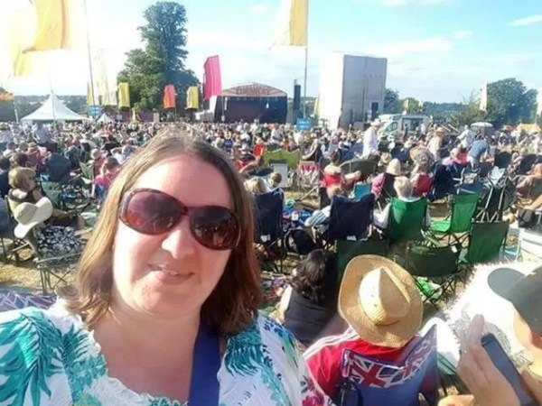 selfie at Cornbury festival