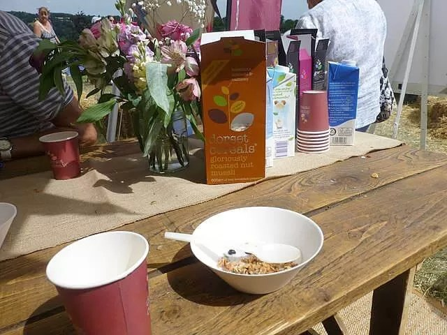 breakfast with dorset cereals at cornbury