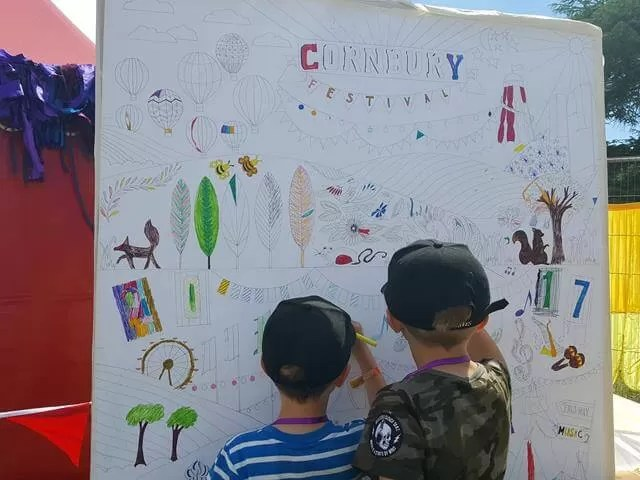 giant colouring at Cornbury