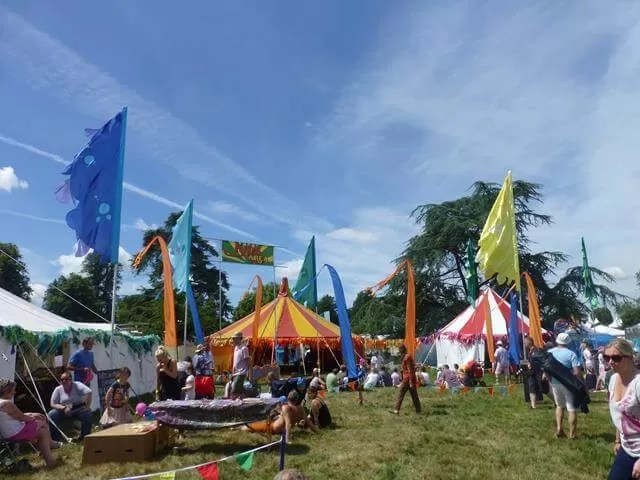 kids area at Cornbury