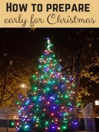 prepare early for christmas