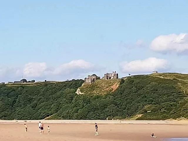 Pennard Castle view