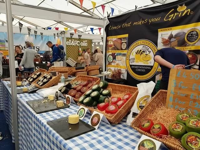 cheeses in the food tent at countryfile live
