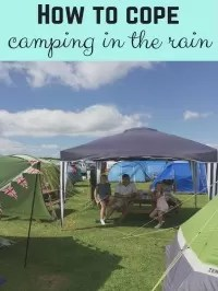 camping in the rain hacks