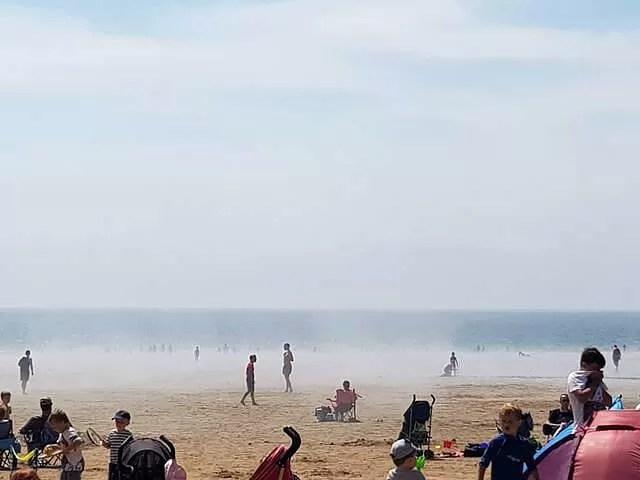 sea mist at caswell bay beach