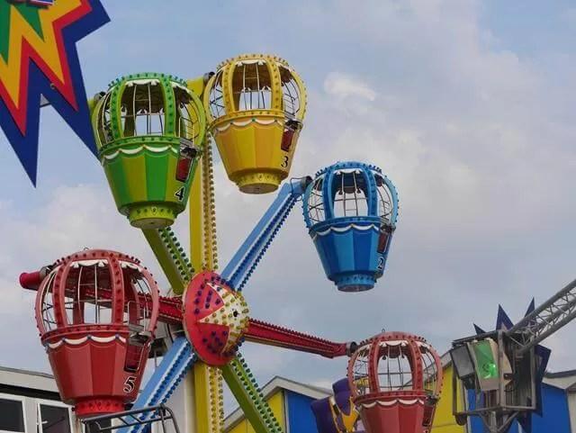 kids ferris wheel at Southsea funfair