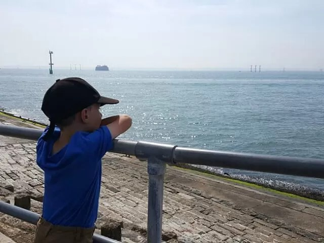 looking over the sea at southsea