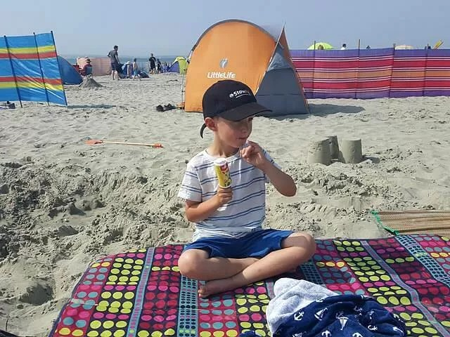 lunch time on the beach