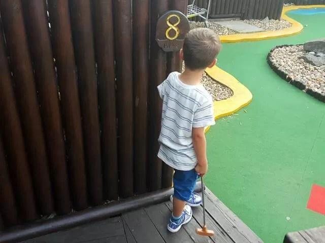 playing crazy golf