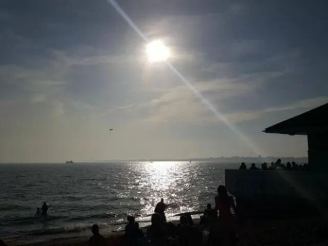 sunset over southsea beach