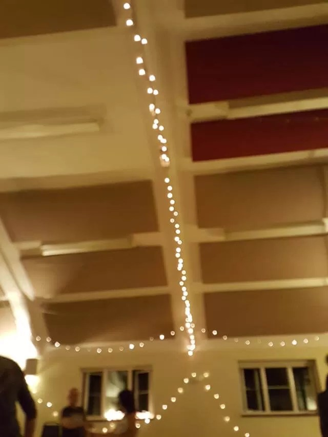 dance venue with fairy lights