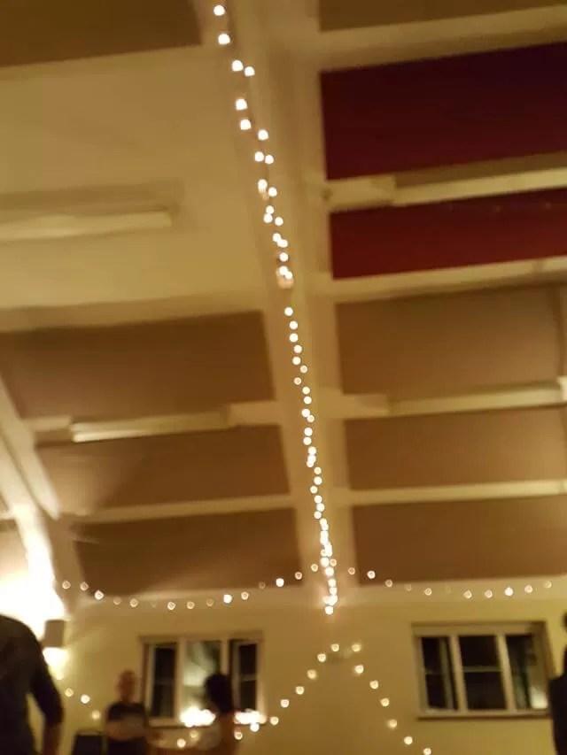 dance venue with fairy lights