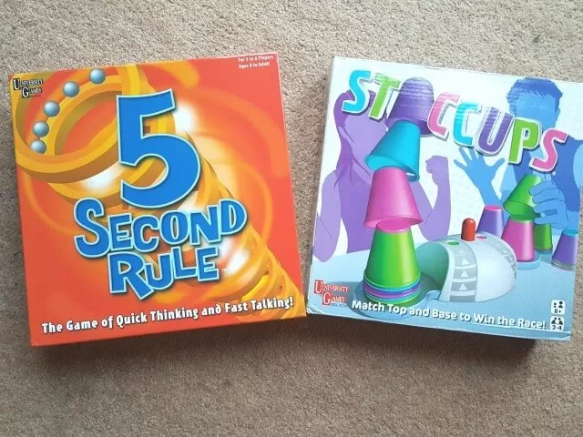 5 second rule and staccups game