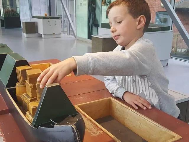 loading barge activity at banbury museum
