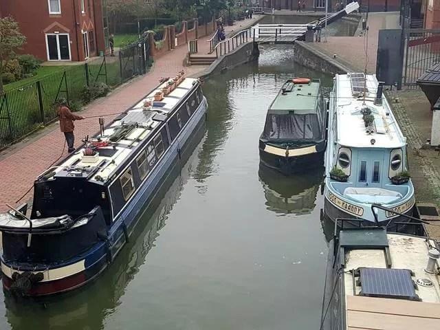 narrow boats on banbury canal