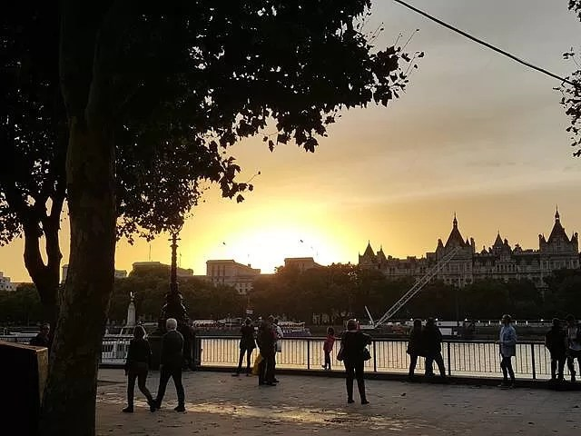 sunset over south bank
