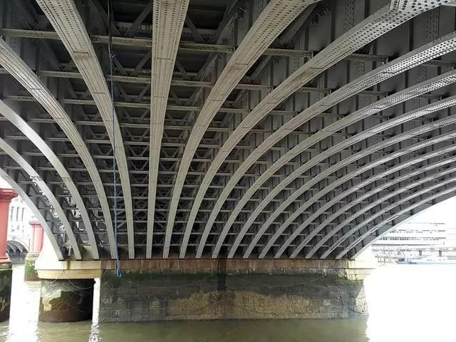 underneath blackfriars bridge