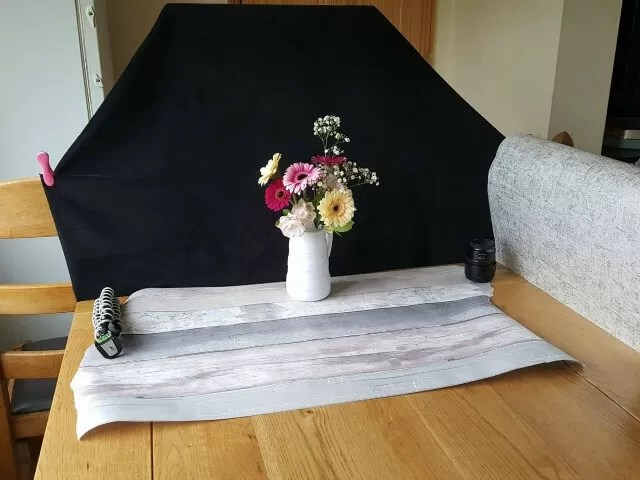 flower photography set up