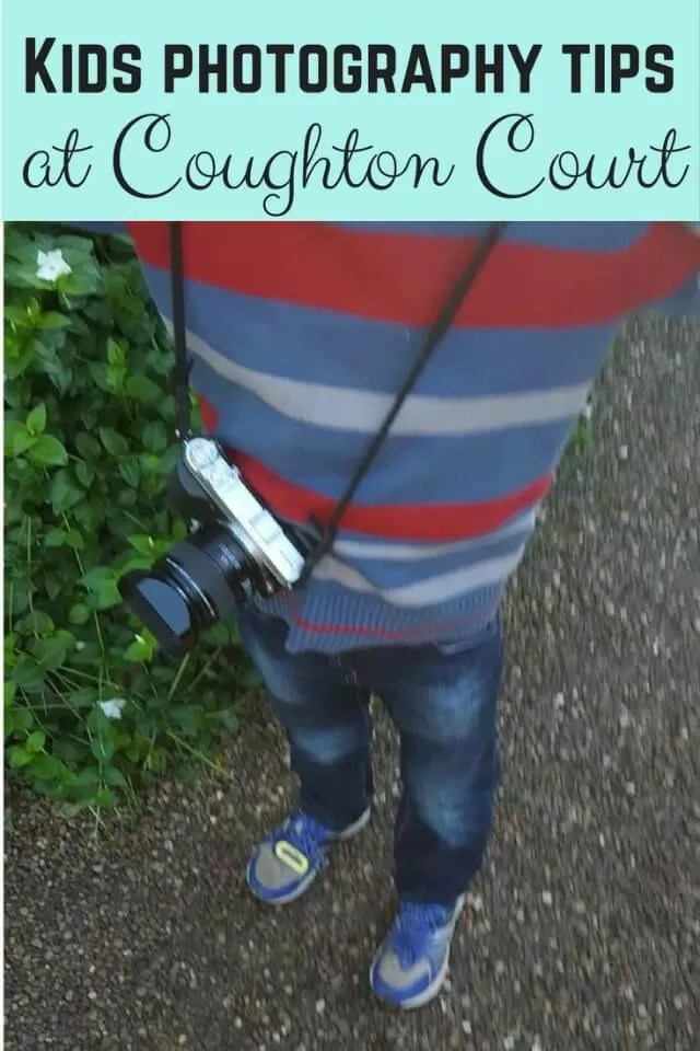 Kids photography tips at Coughton Court - Bubbablue and me