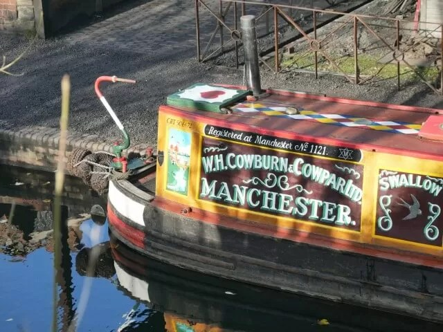 canal boat on black country living museum