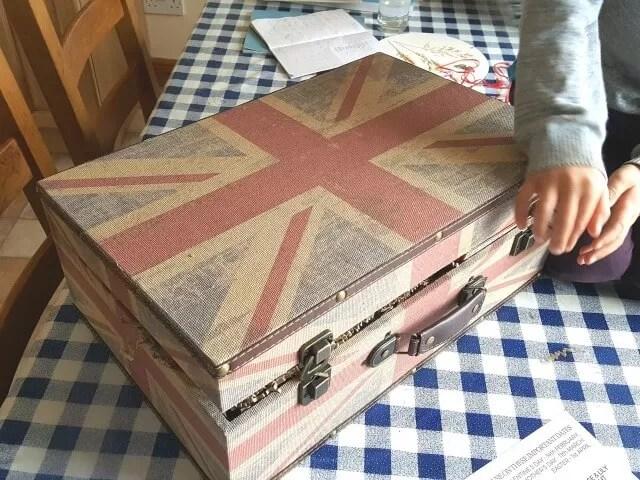 opening a british food christmas hamper