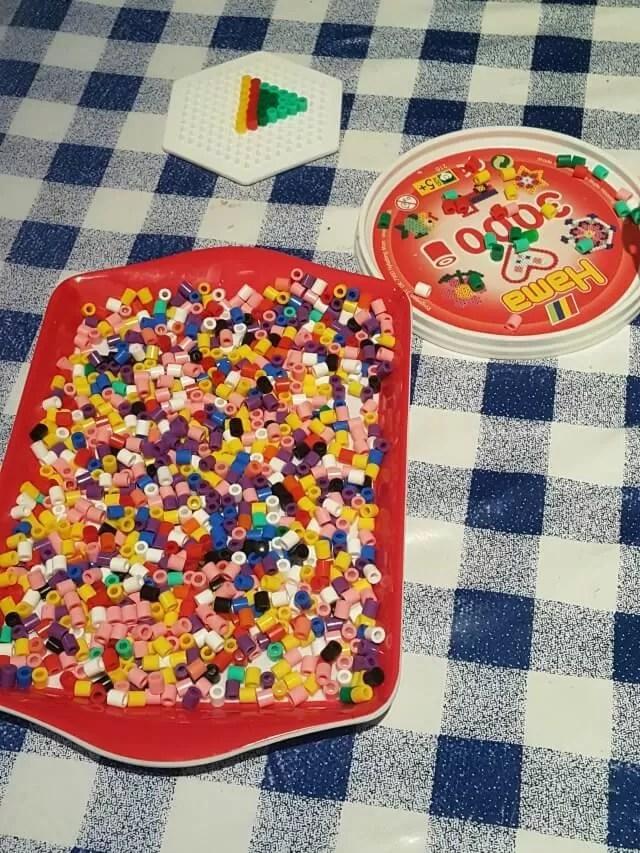 hama beads tray