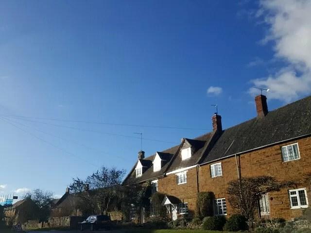 cottages in a village