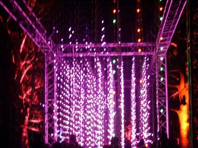 curtains of lights