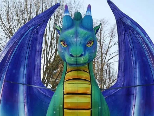 light up dragon at Waddesdon