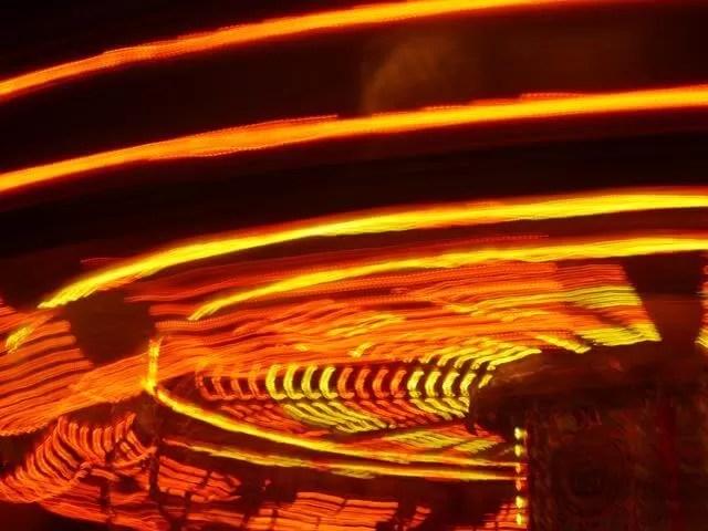 slow shuter on carousel ride