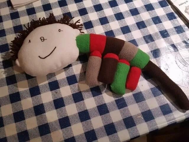dream pet - stripy 4 legged soft toy creation
