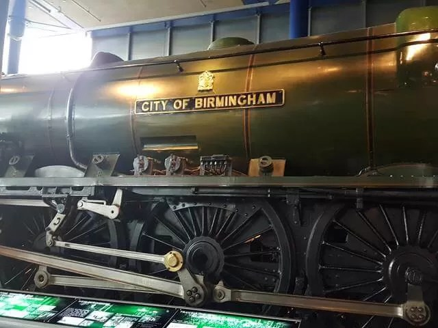 large steam train at think tank