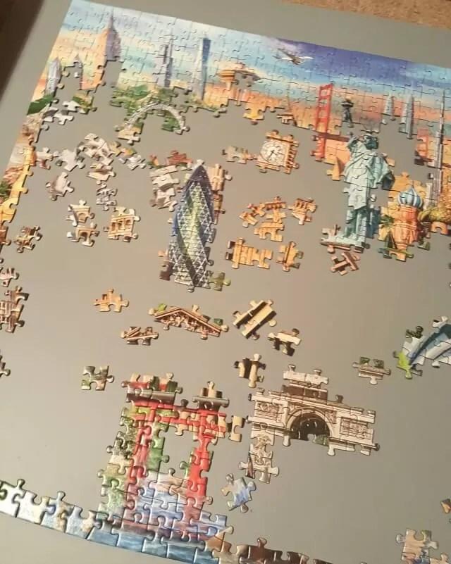 starting a landmarks jigsaw puzzle