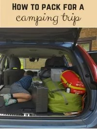 pack for camping