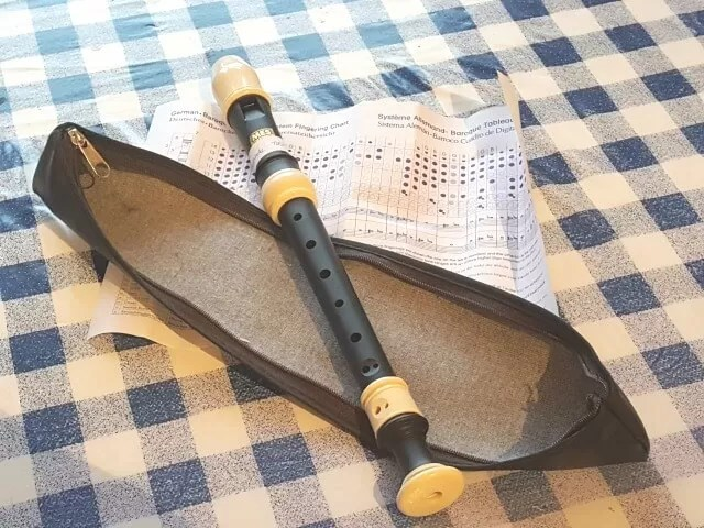 descant recorder, learning to play recorder