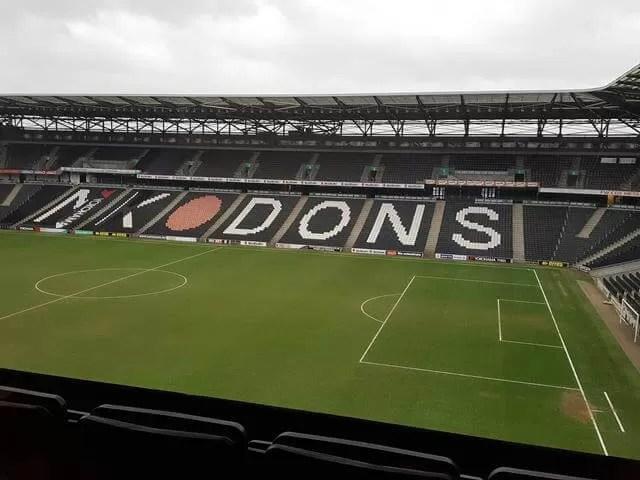 hilton MK overlooking MK dons stadium