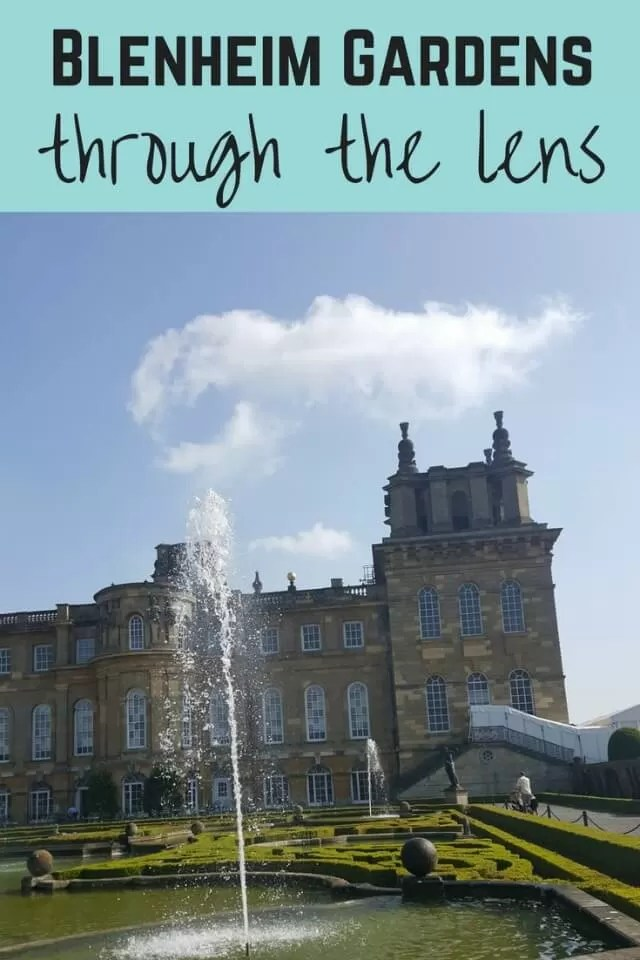 Blenheim garden and palace - Bubbablue and me