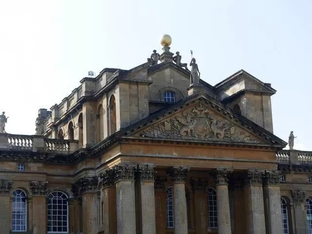 close up of blenheim palace