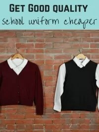 get school uniform cheaper