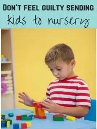 kids at nursery