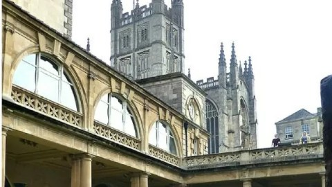 Bath abbey and roman baths - Bubbablue and me